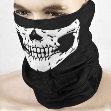 LMFHY3 Halloween Scary Mask Festival Skull Masks Skeleton Outdoor Motorcycle Bicycle Multi Masks Scarf Half Face Mask Cap Neck Ghost