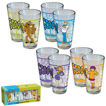 Scooby -Doo Four Pack Pint Glass Set | WBshop.com | Warner Bros.
