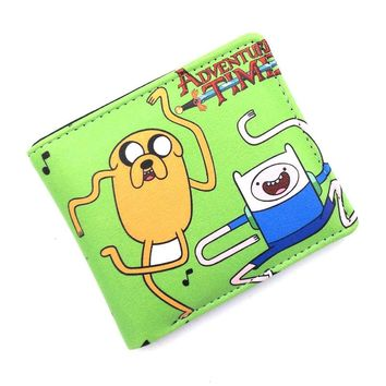 Adventure Time Finn and Jake Leather Card Holder Wallet HOT Sale Pocket Money Bag for Men Women Cosplay Gift