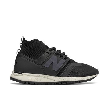 New Balance - Women's 247 Mid (WRL247OA) - Black with Sea Salt