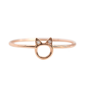 Choupette Ring, Rose Gold - New Arrivals - Catbird