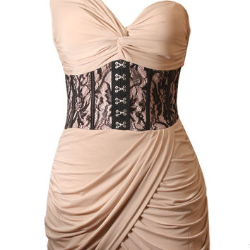 Bandage Corset Lace Dress