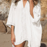 Cupshe Break It Down Lace Plunging Cover-up