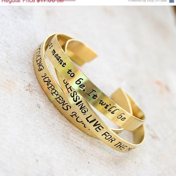 SALE SALE SALE brass bracelet, friendship, personalized bangle bracelet ,