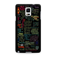 one direction song Samsung Galaxy Note 4 Case
