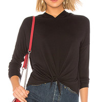 Bobi Bamboo Jersey Sweatshirt in Black