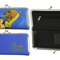 Licensed cool Disney Beauty and the Beast Belle Kisslock WALLET Clutch Bank Card Holder Tote
