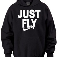 Just Fly Retro Adult Hoodie
