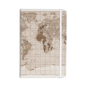 "Catherine Holcombe ""Emerald World"" Vintage Map Everything Notebook"