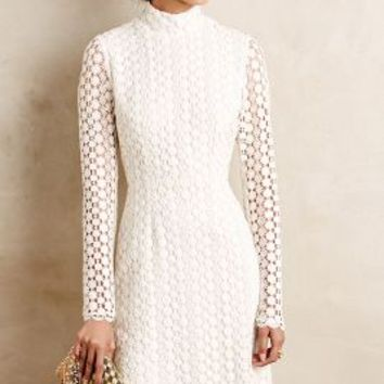 Adalet Lace Shift by Korovilas White