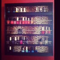 Nail Polish Rack View Different colors by RamRacks on Etsy