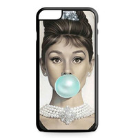 Audrey Hepburn Tiffany Blue Bubble Gum iPhone 6 Plus case