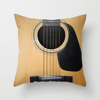 Guitar Throw Pillow by Nicklas Gustafsson | Society6