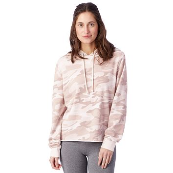 Alternative Apparel - Day Off Printed Burnout French Terry Blush Camouflage Hoodie