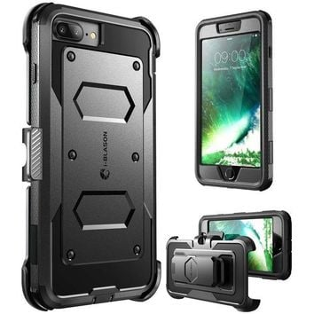 DCK4S2 iPhone 8 Plus Case, [Armorbox] i-Blason built in [Screen Protector] [Full body] [Heavy Duty Protection ] Shock Reduction / Bumper Case for Apple iPhone 7 Plus 2016 / iPhone 8 Plus 2017 Release£¨Black£©