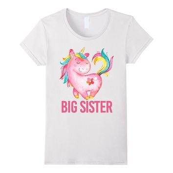 Big Sister Shirts For Girls With Unicorn