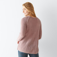 Women's SONOMA Goods for Life™ Wavy Crewneck Sweater