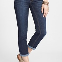 Jolt Crop Straight Leg Jeans (Medium) (Juniors)