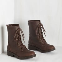 Come Panacea 'Bout Me Boot in Brown | Mod Retro Vintage Boots | ModCloth.com