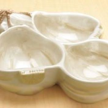 Garlic Condiment Ceramic Bowl - 8627