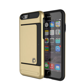 iPhone 6/6s Plus Case PunkCase CLUTCH Gold Series Slim Armor Soft Cover Case w/ Tempered Glass