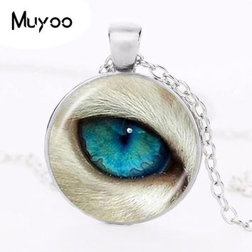 Blue Dragon Eye Necklace Gothic Evil Eye Jewelry Glass Dome Roun 2f86c7e07d