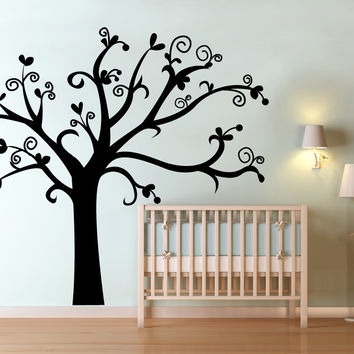 Vinyl Wall Decal Sticker Nursery Tree #OS_MG432