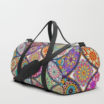 Colorful Mandala Duffle Bag by allisone