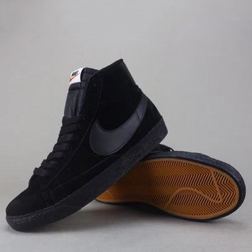 Nike Blazer Mid Suede Vntg Women Men Fashion Casual Old Skool High-Top Shoes-1