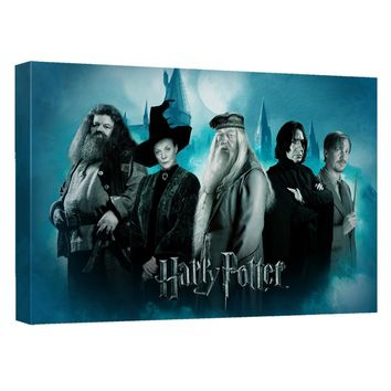 Harry Potter - Hogwarts Teachers Canvas Wall Art With Back Board