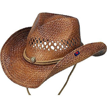 Peter Grimm Ltd Unisex Desperado Straw Cowboy Hat Brown One Size