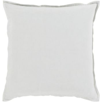 Orianna Linen Throw Pillow - Ivory