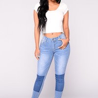 Neva Ankle Jeans - Light Blue Wash