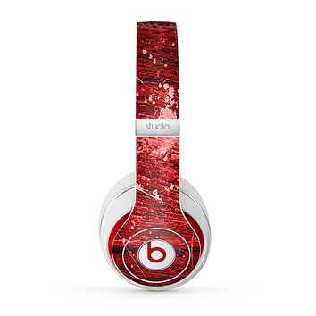 The Red Grunge Paint Splatter Skin for the Beats by Dre Studio (2013+ Version) Headphones