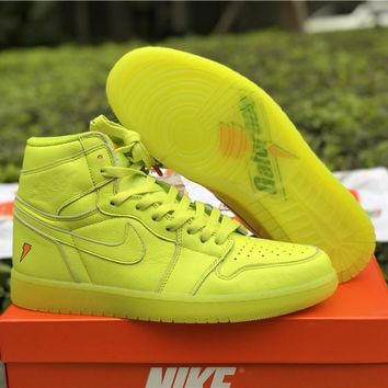 Nike Air Jordan Retro 1 High OG G8RD Gatorade Cyber AJ599745 Basketball Sneaker