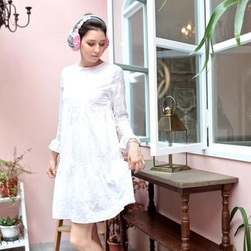 (Mommy & Me) Snow embroidered dress (woman size)