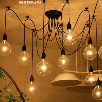 Loft American country industrial Warehouse Edison Vintage Ceiling Lamps for Home,6 lights 8 lamps 10 lights 12 lamps 14 bulb