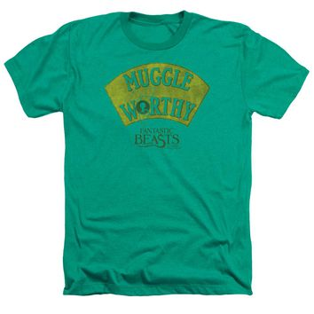 Fantastic Beasts - Muggle Worthy Adult Heather Officially Licensed T-Shirt Short Sleeve Shirt