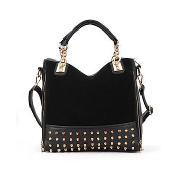 Black Rivet Handbag