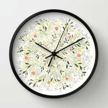 Flower Burst Wall Clock by Charmaine Olivia