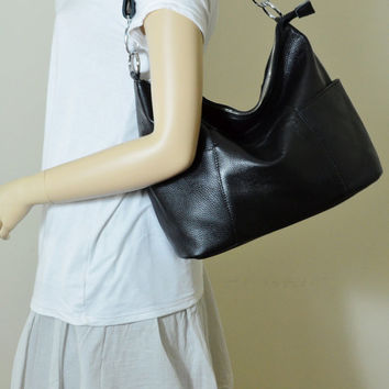 5308bb3447 Leather hobo bag - JOLIE - choose your leather colour