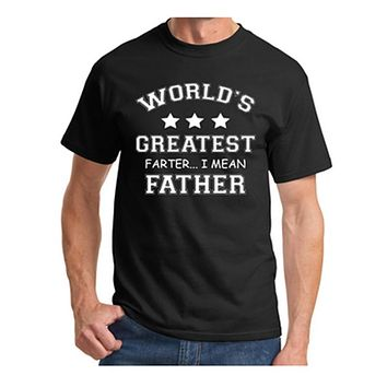 Mens T Shirts Worlds Greatest Farter Funny Fathers Day Tshirt New Dad Gift Tee Poop Humor Tee Shirt Present For Summer Tops