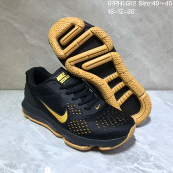 KUYOU N963 Nike Air Max 2019 Cushioned Train Running shoes Black Yellow