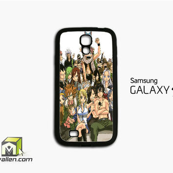 Fairy Tail Manga Collage Samsung Galaxy S4 Case Cover by Avallen