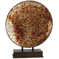 Red & Gold Mosaic Platter