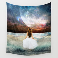 Worlds Apart Wall Tapestry by J.Lauren