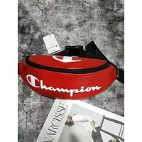 Champion tide brand wild men and women outdoor sports leisure pockets Messenger bag Red