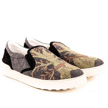 Valentino Embroidered Slip on Sneakers