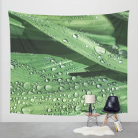 Green Wall Tapestry, Nature Tapestry, Zen Tapestry, Spa Decor, Botanical Tapestry, Nature Wall Tapestry, Green Home Decor, Green Leaves