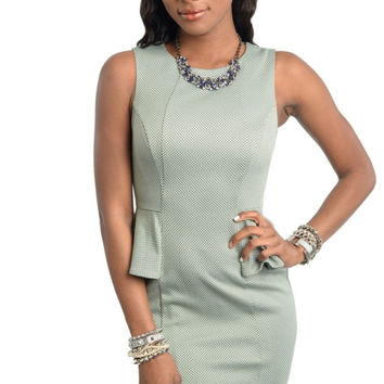 Princess Seam Peplum Bodycon Dress